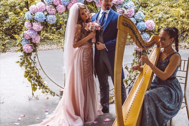 Harfa na vencanju